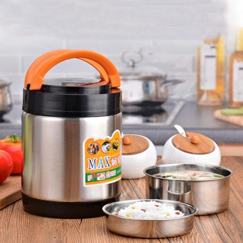 1800ML Stainless Steel Vacuum Thermos Food Warmer Jar Lunch Box