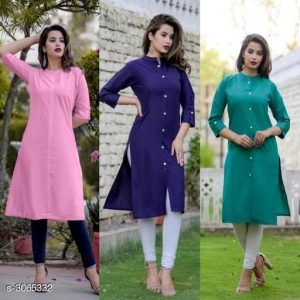 Aradhya Stylish Cotton Printed Women's Kurtis Combo Vol 19