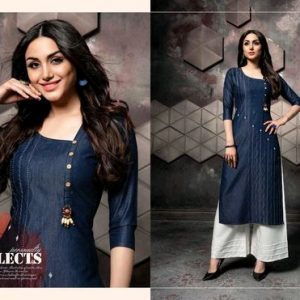 Stylish Denim Kurta Set